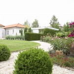 GARDENDESIGN WITH ROUND SHAPES AND SPECIAL GARDENPLANTS IN GARDENREALISATION FROM FLORERA.