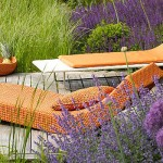 Mediterrane setting in tuin met Paola Lenti tuinmeubelen- outdoor furniture in garden.