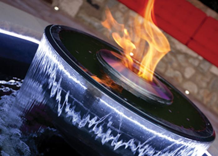 Vuur in tuin fire in garden water en vuur in tuin florera