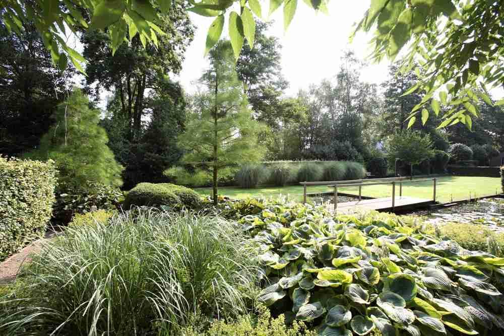 Landschappelijke tuin met koi vijver natuurrijk en for Vijverpomp voor grote vijver