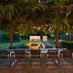 exclusieve moderne tuin met tuinverlichting - tuinarchitect eindhoven- florera tuinontwerp