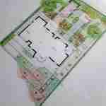 strakke tuin met diepte en spectaculaire kleurstelling.