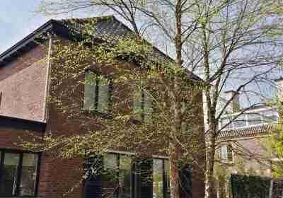 Villatuin met exclusieve boom betula