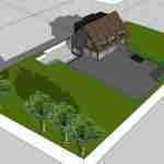 stoere familietuin rond split level villa