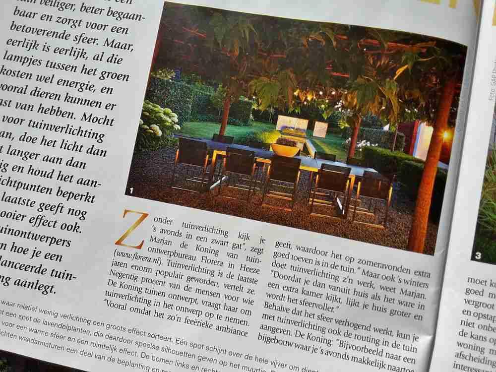 Artikel tuinverlichting in de tuin tijdschrift groei en bloei