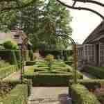 landelijke tuin bij villa boerderij