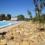 tuin in Zuid Frankrijk- zwembad in tuin
