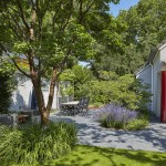 tuinrenovatie villatuin volwassen bomen