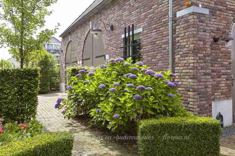 grote boerderijtuin met ruim parkeerplein en gezellige entree- florera.nl